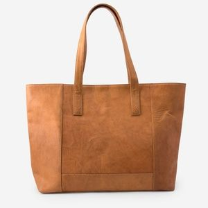 Noonday Collection Modern Leather Tote ~ Tan